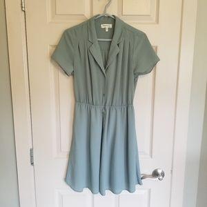 Sage green collared dress